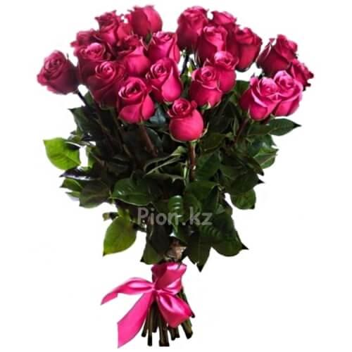 Букет из розовых роз 90см