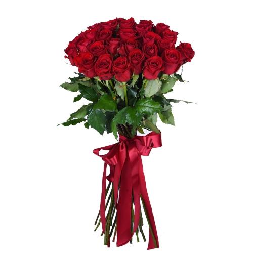 Букет из красных роз 110см