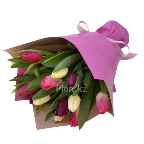 Разноцветные тюльпаны (15 шт.)