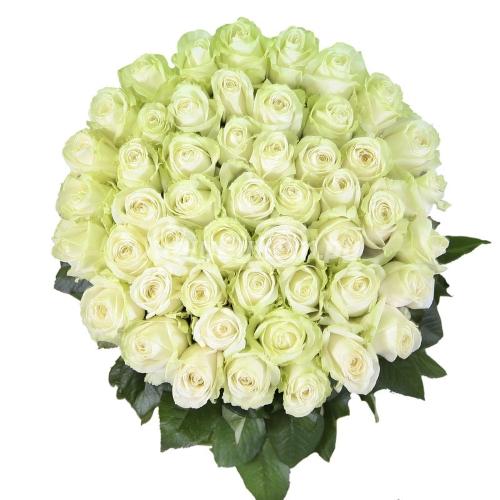 Букет из белых роз 90см